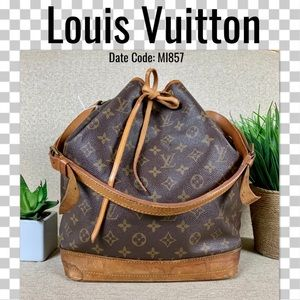 Louis Vuitton Noe Monogram Shoulder Bag leather